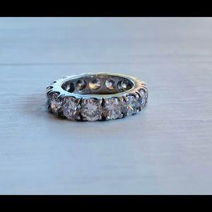 3.75 Carat CZ Eternity Ring Size 6.5